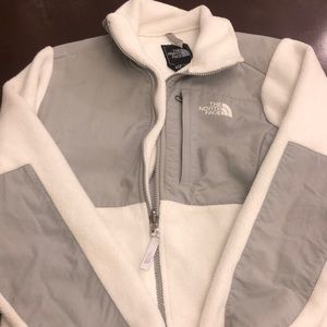 White and Grey North Face